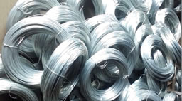 Hot dipped galvanized wire 8kg per roll BWG#22 (0.7mm)